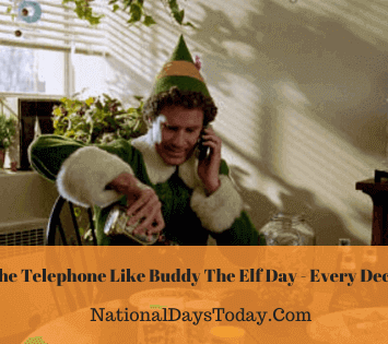Answer The Telephone Like Buddy The Elf Day