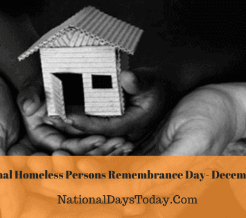National Homeless Persons Remembrance Day