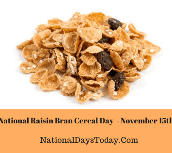 National Raisin Bran Cereal Day
