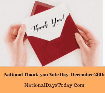 National Thank-you Note Day