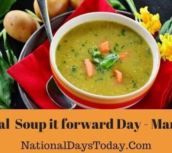 National Soup it forward Day